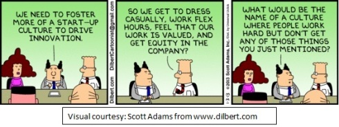 Visual Courtesy: Scott Adams www.dilbert.com